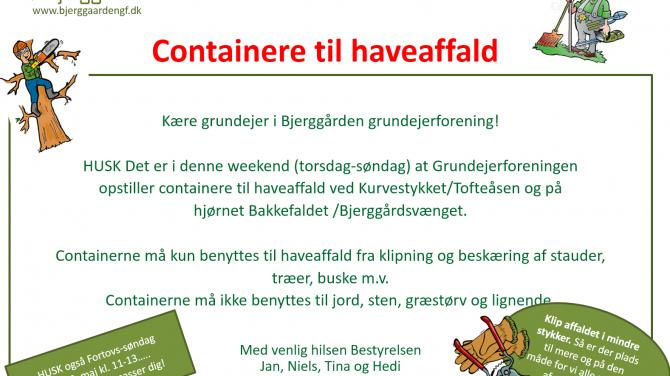 Containere til haveaffald